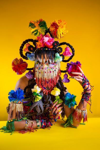 "Martine Gutierrez (American, b. 1989), Demons, Xochiquetzal ""Flower Quetzal Feather,"" p95 from Indigenous Woman, 2018"