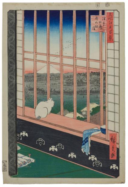 Utagawa Hiroshige I (Japanese, 1797-1858), Asakusa tanbo Torinomachi mode {Asakusa Ricefield and Torinomachi Festival); No. 101 from One Hundred Famous Views of Edo, 1857
