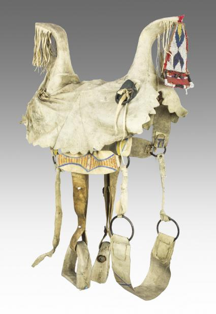 Maker Unknown (Apsáalooke, Crow), Woman's saddle with stirrups, late 19th or early 20th century
