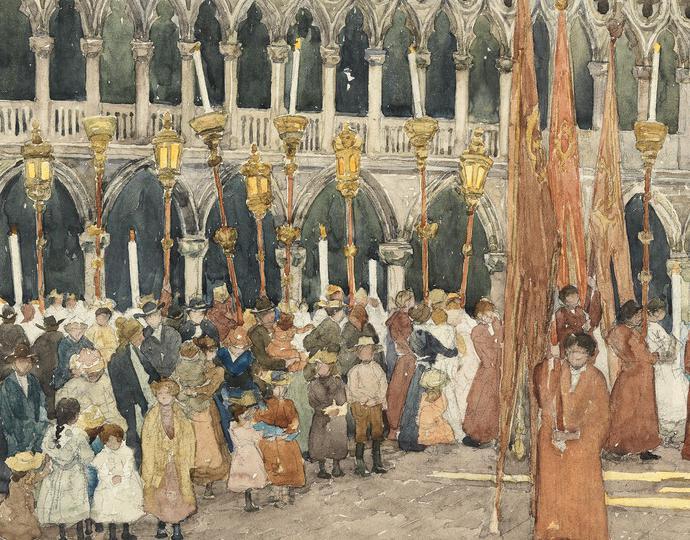Prendergast, Maurice Brazil, Festival Day Venice