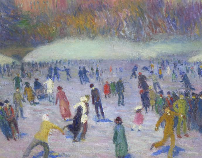Glackens, William; Skaters, Central Park