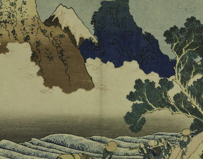 Katsushika Hokusai, Minobu Gawa ura Fuji, from the series Fugaku Sanjūrokkei