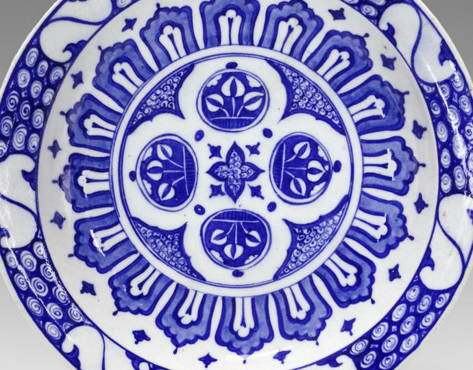 Turkish, Dish with radial design