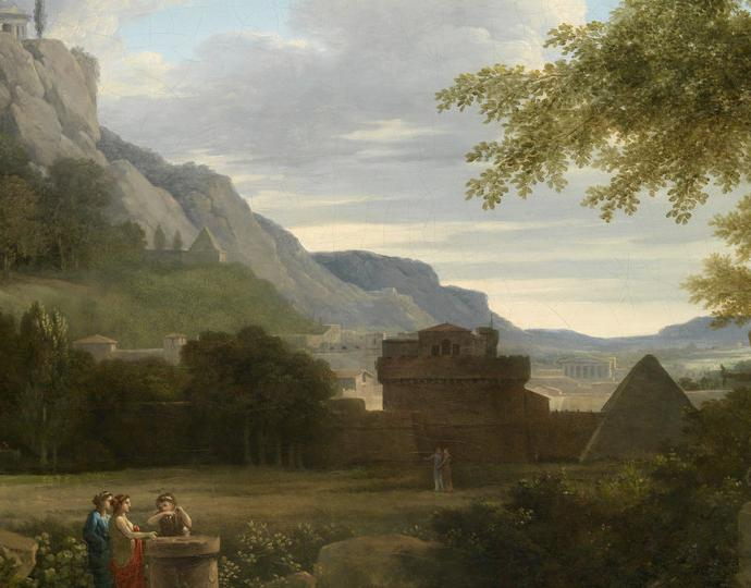 Valenciennes, Pierre Henri de, Classical Greek Landscape with Girls Sacrificing Their Hair to Diana