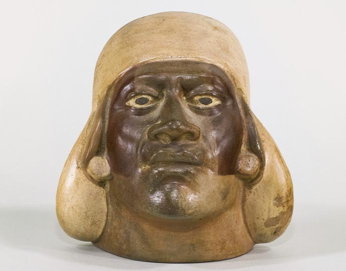 Moche, Portrait head vessel