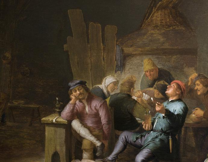 Sorgh, Hendrik Martensz., Inn Interior with Peasants