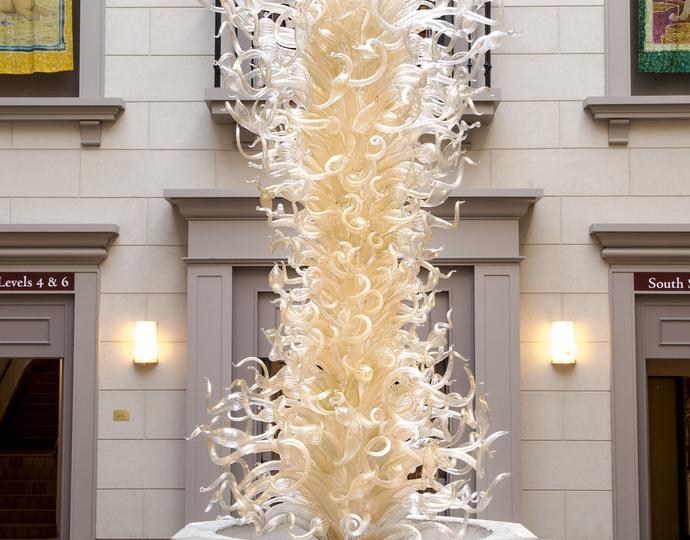 Chihuly, Dale, Clear and Gold Tower