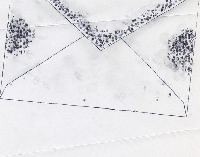 """Lenka Clayton (British, b. 1977), Imagined Germs on the Mail 10/12/2020 in the series """"Typewriter Drawings"""", 2020"""