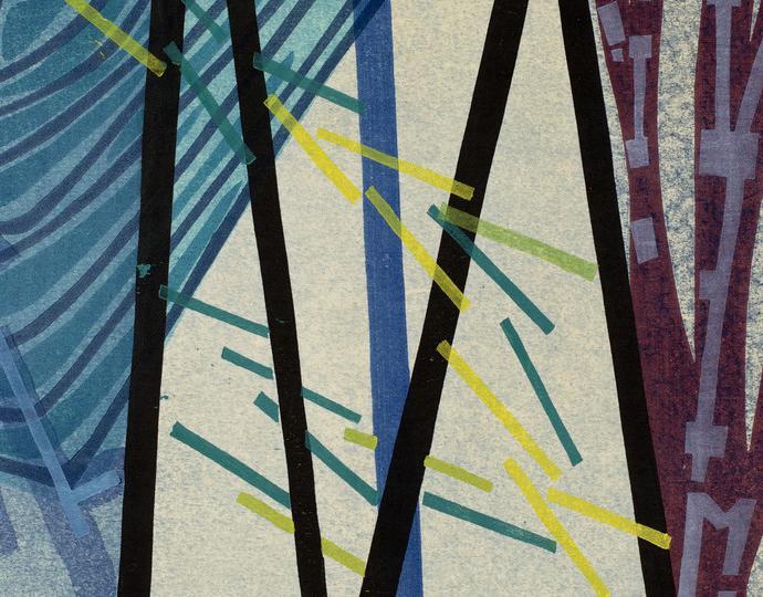 Yoshida Chizuko (Japanese, b. 1924), Rain, 1954