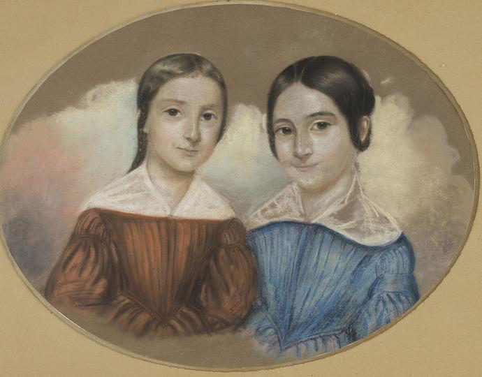 Unknown (German), Bertha and Clara Levin, ca. 1850