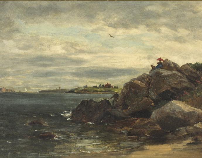 Edward Mitchell Bannister (American, born in Canada, 1828-1901), Untitled [Rhode Island Coastal Scene], ca. 1885-1889