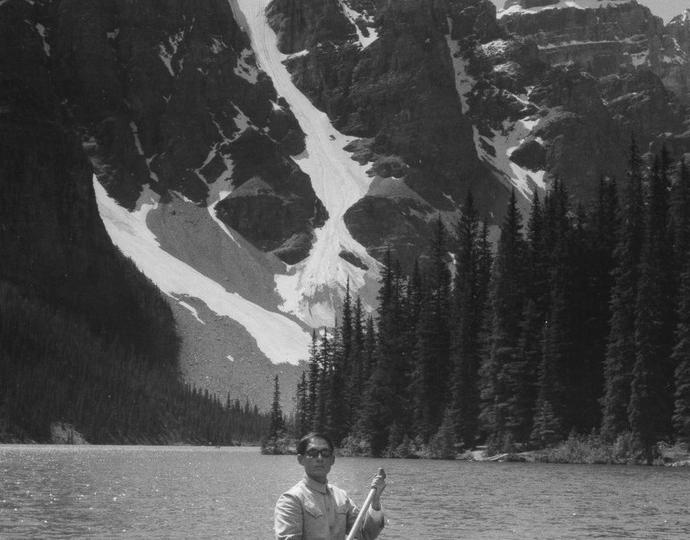 Tseng Kwong Chi (American, born China, 1950-1990), Lake Moraine, Northwest Territories, Canada, 1968 (printed in 2008)