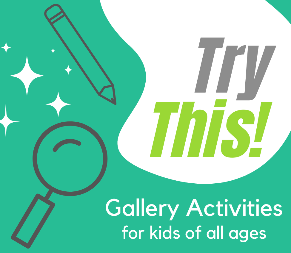 """A green background with a white curved shaped swooping down from the top on the right side with text inside that reads, """"Try This!."""" On the left, a pencil and magnifying glass with white sparkles overlaid."""